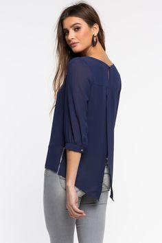 Блуза Размеры: S, M, L Цвет: темно-синий Цена: 1285 руб.     #одежда #женщинам #блузы #коопт