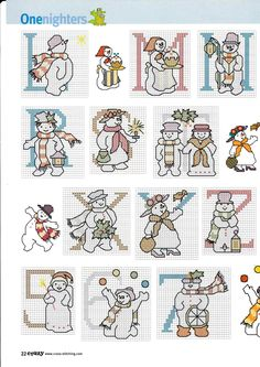 Snowman ABC 3 of 3
