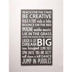 Be Creative Plaque Black