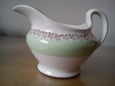 lovely green and white jug