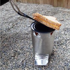 Tin Can or Hobo Camp Stove, and how to make a cardboard + wax fuel source in a second tin can