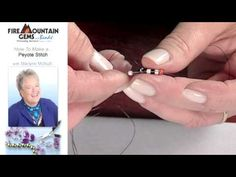 How to Make a Peyote Stitch with Marlynn McNutt.