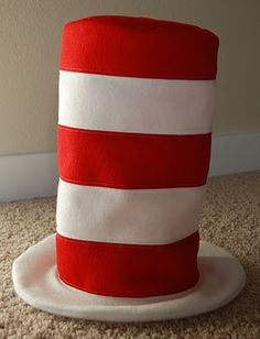 Cat in the Hat. Could alter to be a top hat (black/red stripe)...