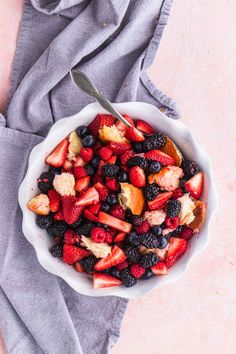 Berry Panzella Salad Good Thing Baking for Ashley Rose of Sugar & Cloth