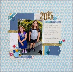 Video tutorial for scrapbook page by May Flaum featuring @ellestudio products