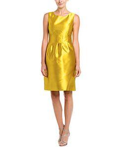 Lela Rose Golden Classic Sheath Dress
