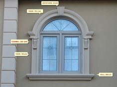Keystones, Architectural and Exterior House Window Design, House Outside Design, Door Gate Design, House Front Design, Modern Exterior, Exterior Design, Exterior Trim, Exterior Window Molding, Window Molding Trim