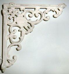 Regalbodenträger Regalträger Wandkonsole Regalhalter Winkel Gusseisen antik weiß