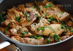 Skinless Chicken Thighs with Shallots in Red Wine Vinegar (Poulet Au Vinaigre) | Skinnytaste