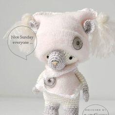 ✨good night #woolbyme #littleinspiringsoul #ooak #teddybear #cottontoys #handmade #amigurumis #amigurumitoy #crochet