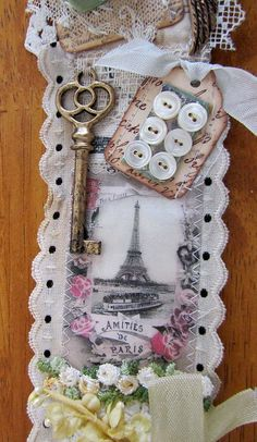 https://flic.kr/p/dXr9MH | My Snippet | Rhonda is hosting this wonderful swap with the Marie Antoinette Mail Art Group, it was a supply swap and then we take all the snips and bits and create a roll with it, you add all your favorite things to it.