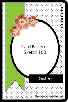Card Patterns Sketch No. 160. #cards #card_making #sketches #crafts