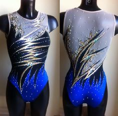 tailoring competition swimsuits for solo, duet, team and combo, exclusive design and high quality. Artistic Gymnastics Leotards, Gymnastics Competition Leotards, Gymnastics Suits, Gym Leotards, Blue Leotard, Girls Dance Costumes, Synchronized Swimming, Figure Skating Dresses, Swimming Costume