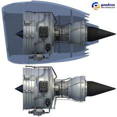 Rolls-Royce Trent 1000 Turbofan Engine 3D Model.#jorgenca