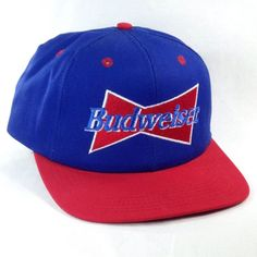 Budweiser Beer Patriotic Red White Blue Snapback Trucker Hat Cap USA 4th Of July #Budweiser #Trucker