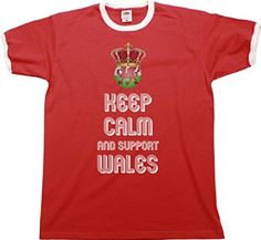 T-Shirt KEEP CALM & Support WALES Football Euro 2016