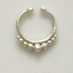 Tabique plata para no perforada - joyería de la nariz - nariz tabique joyería - indio