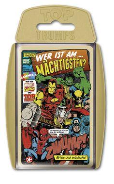 TOP TRUMPS MARVEL COMICS #TopTrumps #Marvel #Comics #Hulk #Spiderman #IronMan #CaptainAmerica #Thor