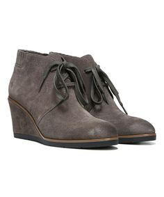 74c5cb64b3b2 Another great find on  zulily! Gray Austine Suede Bootie  zulilyfinds Lace  Up Wedges
