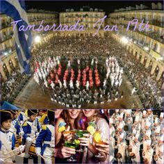 """We can't wait for next year! The big celebration always begins at midnight on the 19th. From that moment until midnight on the 20th, the city's streets will reverberate with the sound of drums !! Over 100 """"tamborradas""""(drum marches in basque) will go out onto the streets to celebrate San Sebastian Day. People dress as Chefs or French soldiers. Best party of the year!"""