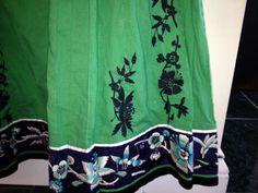Anthropologie gorgeous skirt by Lythe Sz 0 green embroidery Cheer Skirts, Anthropologie, Folk, Embroidery, Green, Ebay, Fashion, Moda