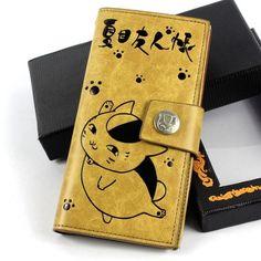 Япония аниме Natsume Yuujinchou Cat учитель долго бумажник кошелек искусственная кожа Csplay подароккупить в магазине Sharon Chen' StoreнаAliExpress