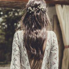 Beautiful boho hair inspiration...effortlessly chic #sheisthebridalatelierbride…