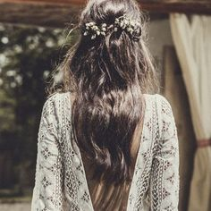 Beautiful boho hair inspiration...effortlessly chic #sheisthebridalatelierbride…