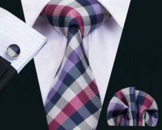 Elegantná kravatová sada - kravata + manžety + vreckovka, vzor 3.