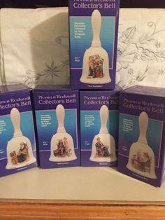 5  Norman Rockwell Collectors Bells Cobbler Memories Bedtime,Toy Maker, Good Boy  | eBay