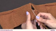 This video shows how to seam together two pieces of garter stitch pieces, when side by side. This simple technique makes for a clean and polished look that i...