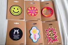 LUSH Oxford Street new sew on patches Pin And Patches, Sew On Patches, Lush Oxford Street, Lush Cosmetics, Bath And Body