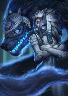 """little-dose-of-inspiration: """"Kindred The Eternal hunter by Zamberz """""""