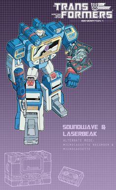 Soundwave and Laserbeak poster by J-Rayner.deviantart.com on @DeviantArt