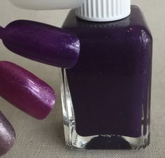 Name: Sample TAO #26  Description: Bright grape near jelly with ultra chrome flake shimmer and sparse holographic pigment