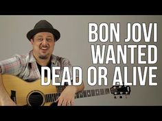 Wanted Dead Or Alive - Bon Jovi - Easy Acoustic Song Guitar Lesson (BS-702) How to play - YouTube
