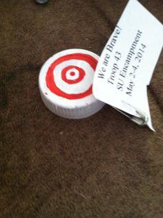 Target SWAP made from a bottle cap