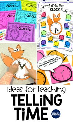 Fun Ways to Teach Telling Time-Find lots of hands-on ideas and telling time activities for first, second, and even third graders that make what can be a difficult concept fun! Centered around a telling time anchor chart, these lessons and activities are ideal for teaching 1st, 2nd, and 3rd graders to tell time to the hour/half hour, quarter hour and to the minute. This post also includes a FREE telling time game for kids!