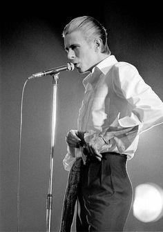 "vezzipuss.tumblr.com — David Bowie, ""Isolar 1"", Circa 76. 〰️〰️"