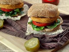 Buffalo Chickpea Quinoa Burgers - Connoisseurus Veg