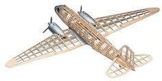 """Guillows 1:32, DOUGLAS DC-3, 35 Wing Span Balsa Wood Kit  804        Item: 804      Wing Span: 35""""      Scale: 1/32      Min. Age: 14    Considered to be the single most important aircraft in the history of air transportation, the DC-3 first flew in 1935."""