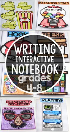 Writing Interactive Notebook: This Interactive Writing Notebook will engage learning like never before! Students will learn various components of writing while enjoying each foldable along the way. Fourth Grade Writing, 6th Grade Ela, 4th Grade Reading, Grade 3, Third Grade, Writing Lessons, Teaching Writing, Writing Activities, Teaching Strategies