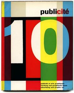 Publicite 10:  Review of Publicity and Advertising Arts in Switzerland. (1959) cover Pierre Monnerat
