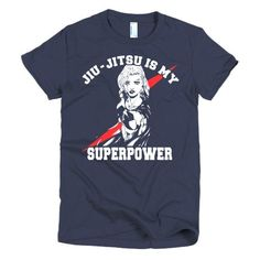 Jiu Jitsu is My SuperPower - Short sleeve women's BJJ t-shirt