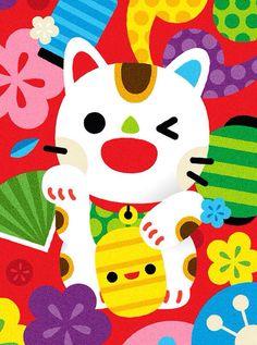 Maneki Neko Art Print by carloshiguera! - X-Small Maneki Neko, Neko Cat, Crazy Cat Lady, Crazy Cats, Gatos Cat, Japanese Cat, Kokeshi Dolls, Whimsical Art, Animal Quotes