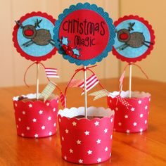 what a fun little cupcake or table holder   The Alley Way Stamps