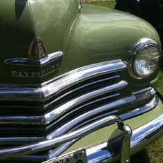 Winchester VA antique car show- I loved our old 1953 green Plymouth. It was the first new car Daddy ever bought. He kept it his entire life and let it rust out in the back field. Sad.