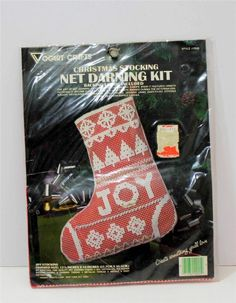 Christmas Stocking Net Darning Kit Joy