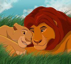 <3  Mufasa und Sarabi König der Löwen <3