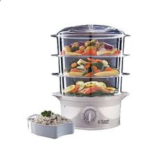 Russell Hobbs 3 Tier Food Steamer 21140 9 L 800 W White This is ranked high among the best selling products in Home Garden category in UK. Click below to see its Availability and Price in YOUR country.